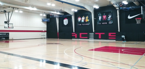 Le parquet de l'Athlete Institute