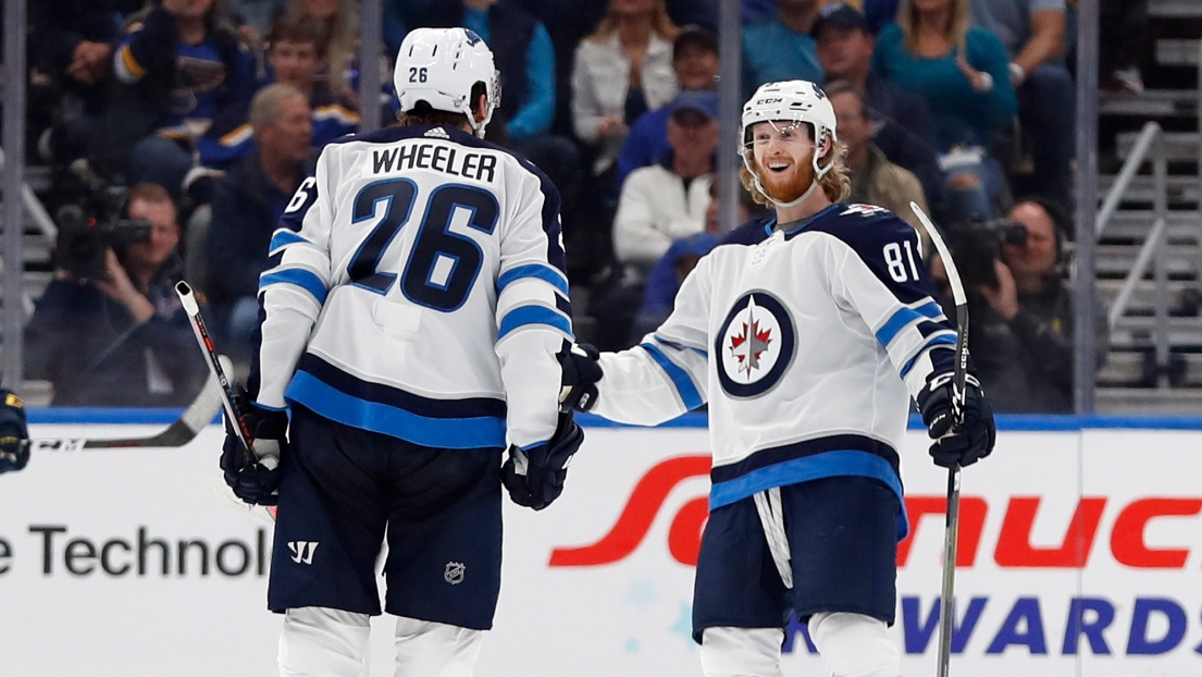 Blake Wheeler et Kyle Connor