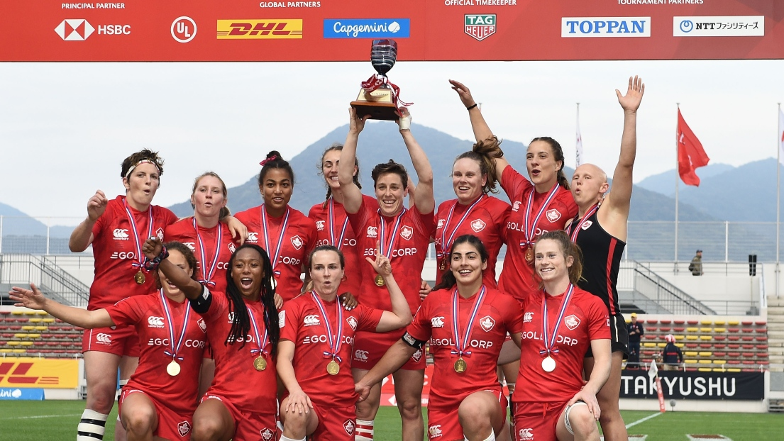 L'équipe canadienne de rugby féminin