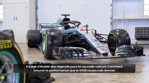 La W10, le nouveau bolide de Mercedes