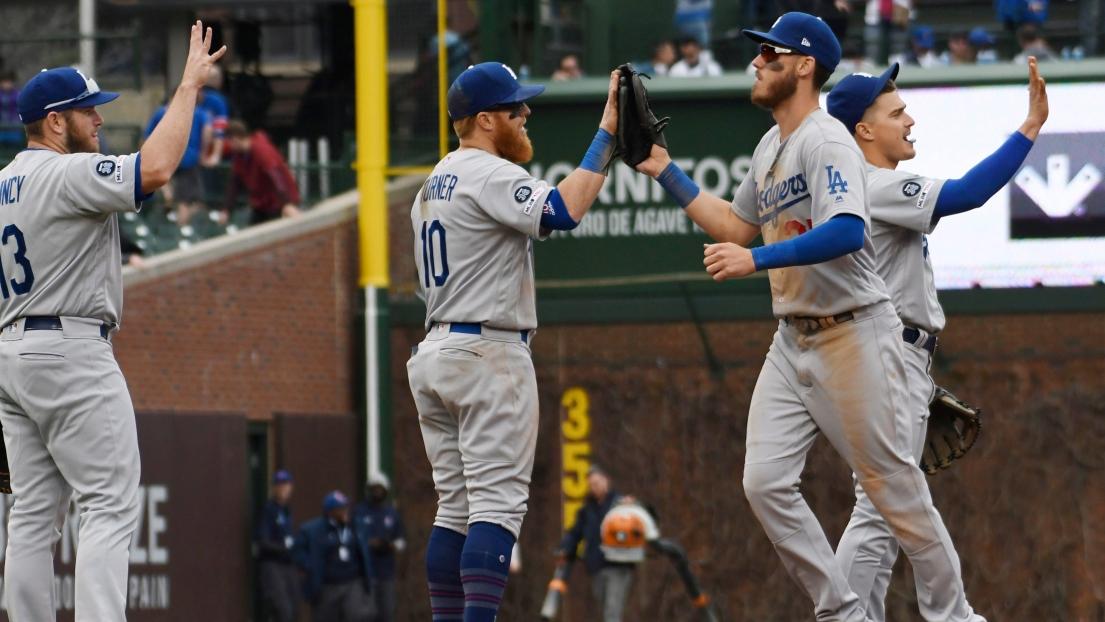 Les Dodgers de Los Angeles célèbrent