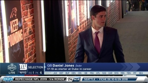 Les Giants causent la surprise avec Daniel Jones