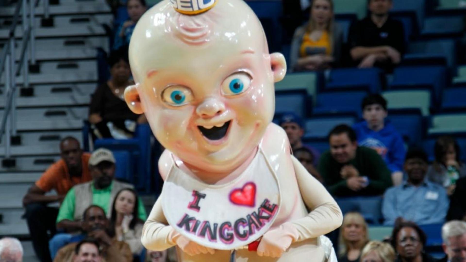 King Cake Baby, mascotte des Pelicans dans la NBA