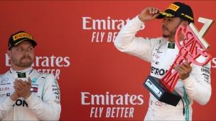 Hamilton passe un message à Bottas