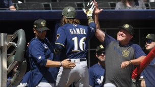 Brewers 3 - Braves 2 (10 manches)