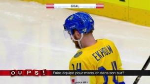 Oups! Les Suédois s'unissent pour marquer dans leur but