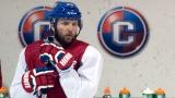 Tomas Vanek, lors d'un entraînement avec le Canadien de Montréal.