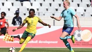 Thembi Kgatlana de l'équipe d'Afrique du Sud 2019