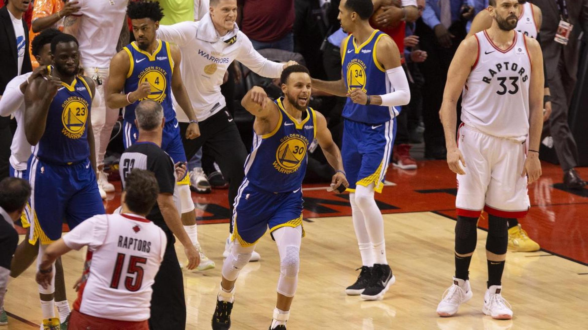 Stephen Curry à la conclusion du 5e match