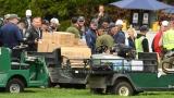 Une voiturette de golf