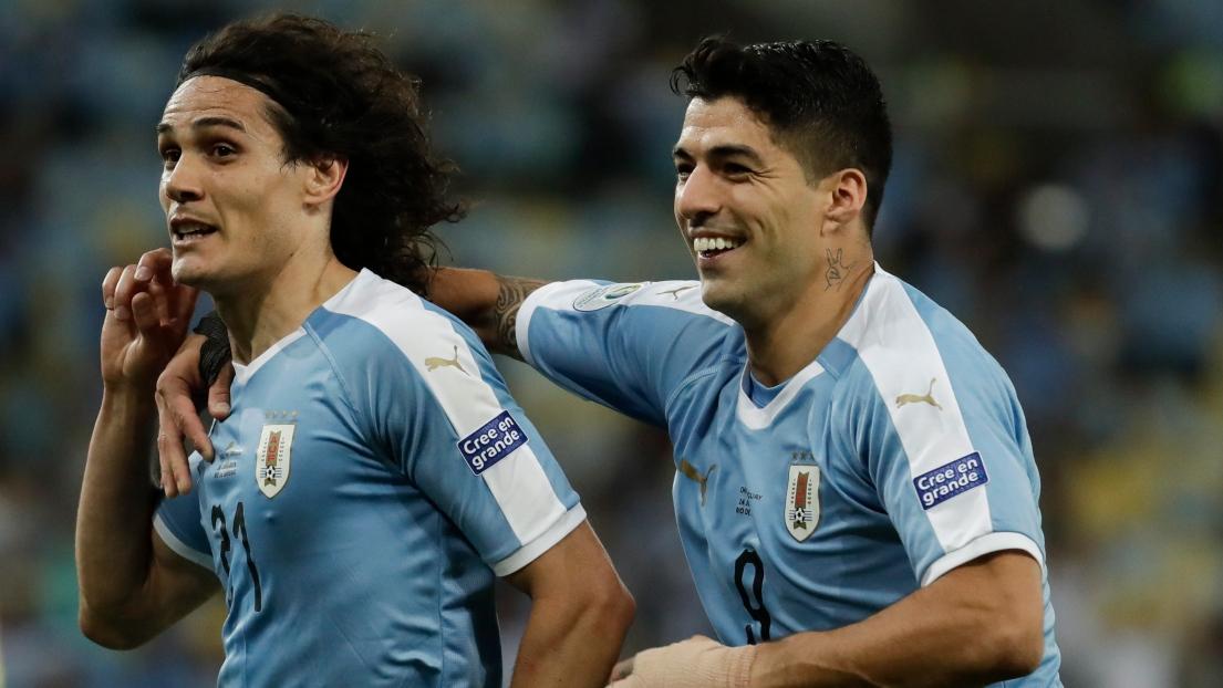 Edinson Cavani et Luis Suarez