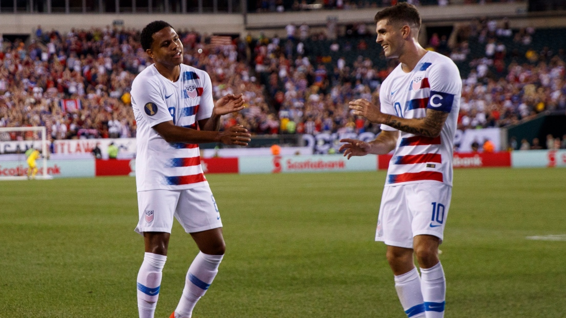 Weston McKennie et Christian Pulisic
