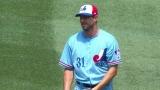 Max Scherzer dans l'uniforme des Expos de Montréal