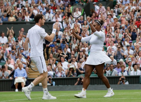 Andy Murray et Serena Williams