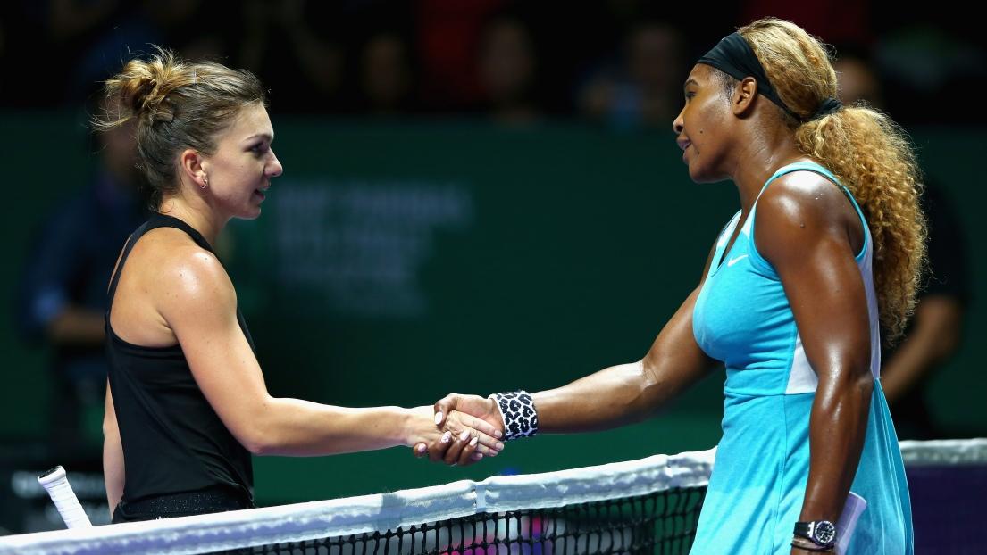 Simona Halep et Serena Williams