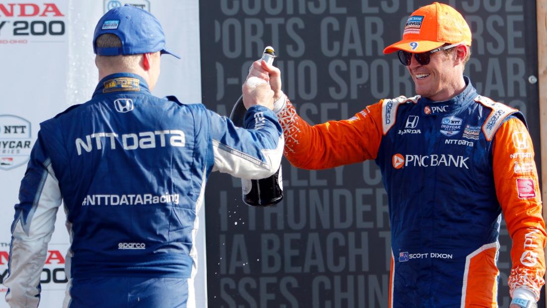 Felix Rosenqvist et Scott Dixon