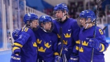 L'équipe suédoise féminine de hockey