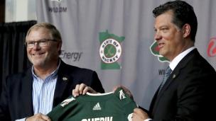 Bill Guerin présenté aux médias du Minnesota