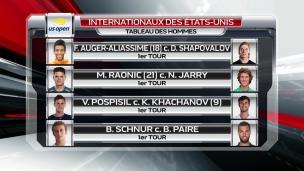 US Open : duel entre Auger-Aliassime et Shapovalov
