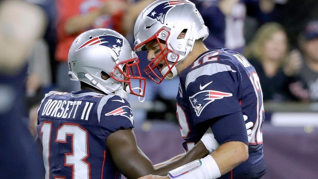 Phillip Dorsett et Tom Brady