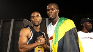 Tyson Gay et Usain Bolt