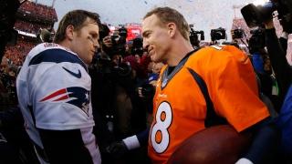 Tom Brady et Peyton Manning en 2016