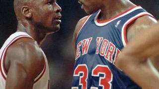 Michael Jordan et Patrick Ewing