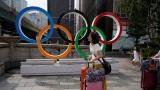 Les anneaux olympiques à Tokyo
