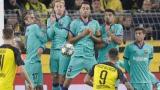 Des joueurs du FC Barcelone durant un coup franc
