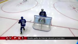 Oups! Quelle gaffe de Marner devant un but bleu!