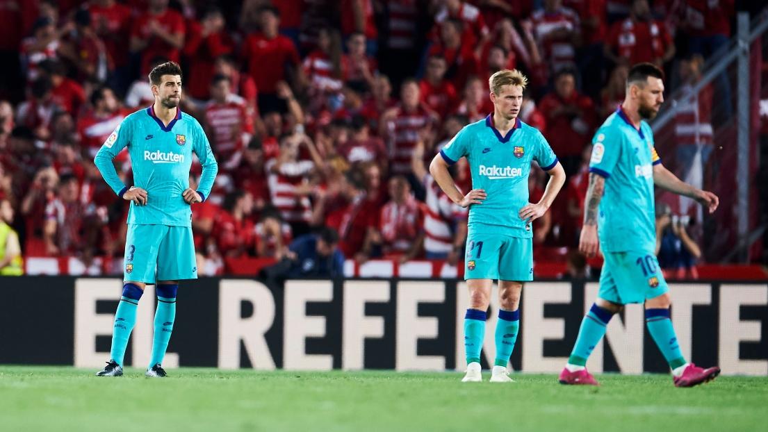 Gerard Piqué, Frenkie de Jong et Lionel Messi