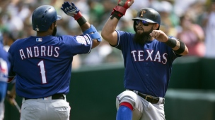 Rangers 8 - Athletics 3