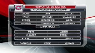 L'alignement de Gaston si la saison débutait ce soir