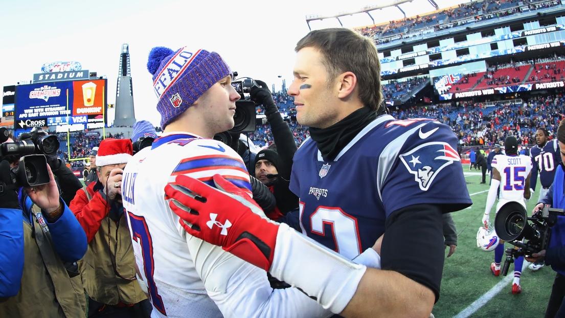 Josh Allen et Tom Brady