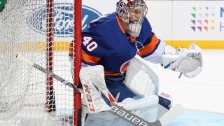 Semyon Varlamov avec les Islanders