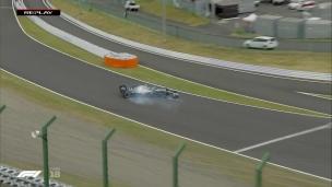 Mercedes rapide avant l'arrivée du typhon Hagibis