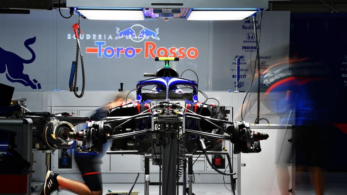 Une voiture de l'écurie Toro Rosso