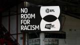 Affiche contre le racisme au match de Liverpool
