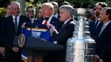 Donald Trump en compagnie des Blues