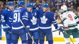 Les Maple Leafs de Toronto célèbrent