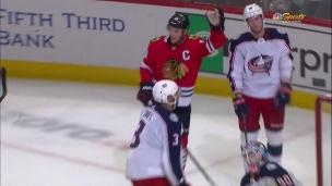 Toews saute sur le retour de Kane en prolongation