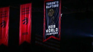 Les Raptors dévoilent leur bannière de champions