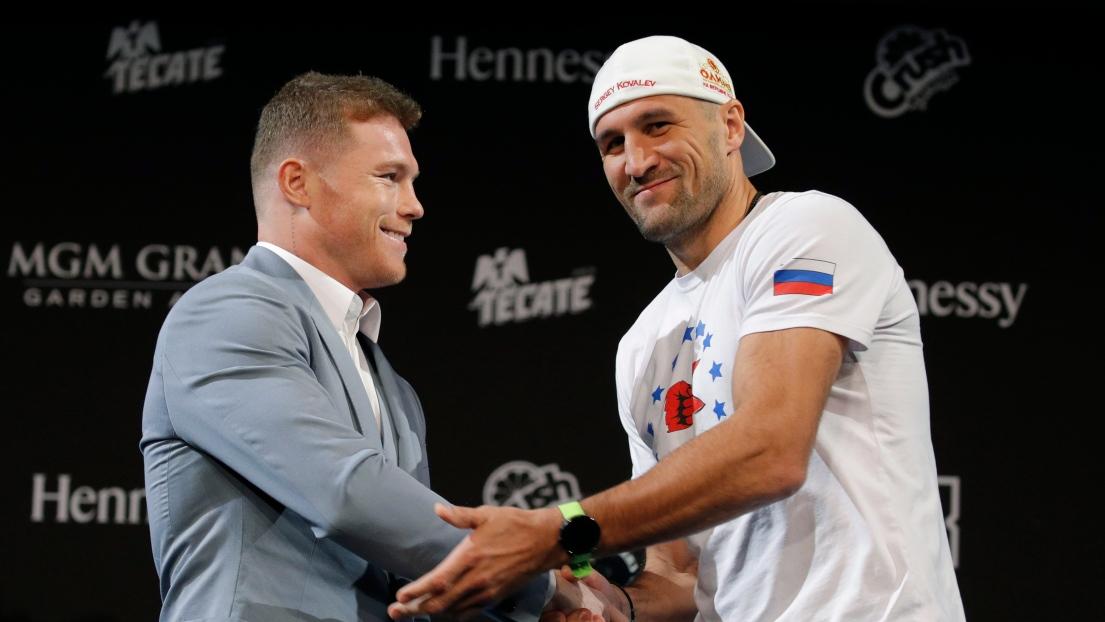 Saul « Canelo » Alvarez et Sergey Kovalev