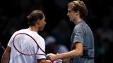 Rafael Nadal et Alexander Zverev