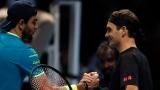 Matteo Berrettini et Roger Federer