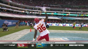 Rivers intercepté, McCoy complète avec le touché
