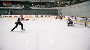 Défi hockey de l'AC : passes et tirs