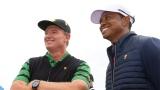 Ernie Els et Tiger Woods