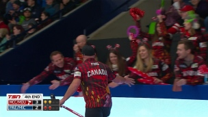Le coup de la journée au curling