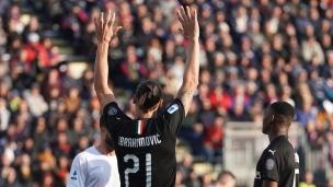 Zlatan marque à son 1er départ avec l'AC Milan